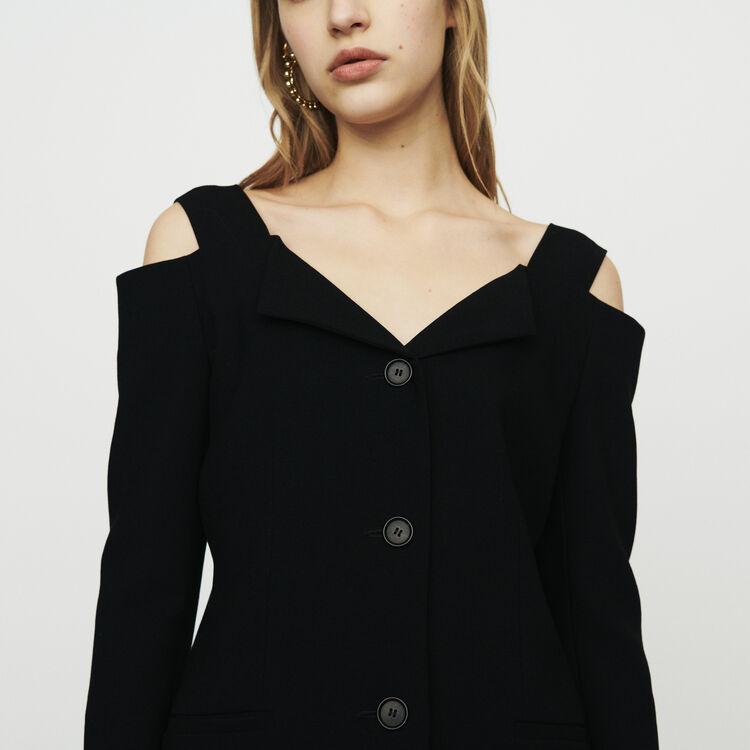 Giacca con spalle nude : Giacche colore Nero