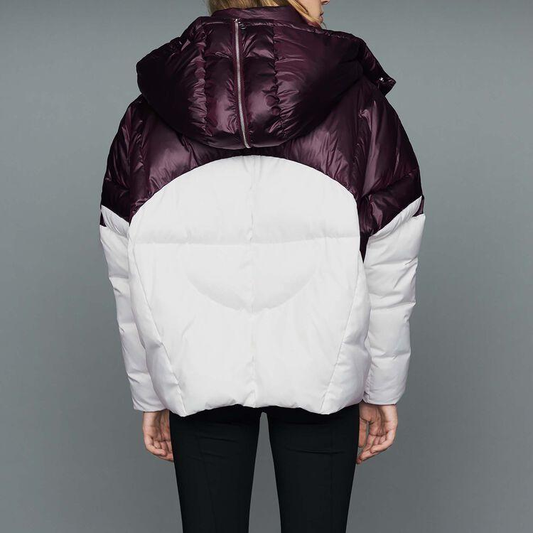 Piumino bicolore corto : Cappotti colore Bianco