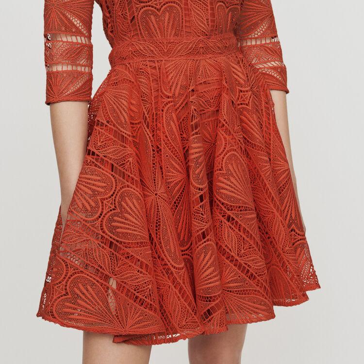 Vestito pattinatrice in pizzo : Vestiti colore Terracotta