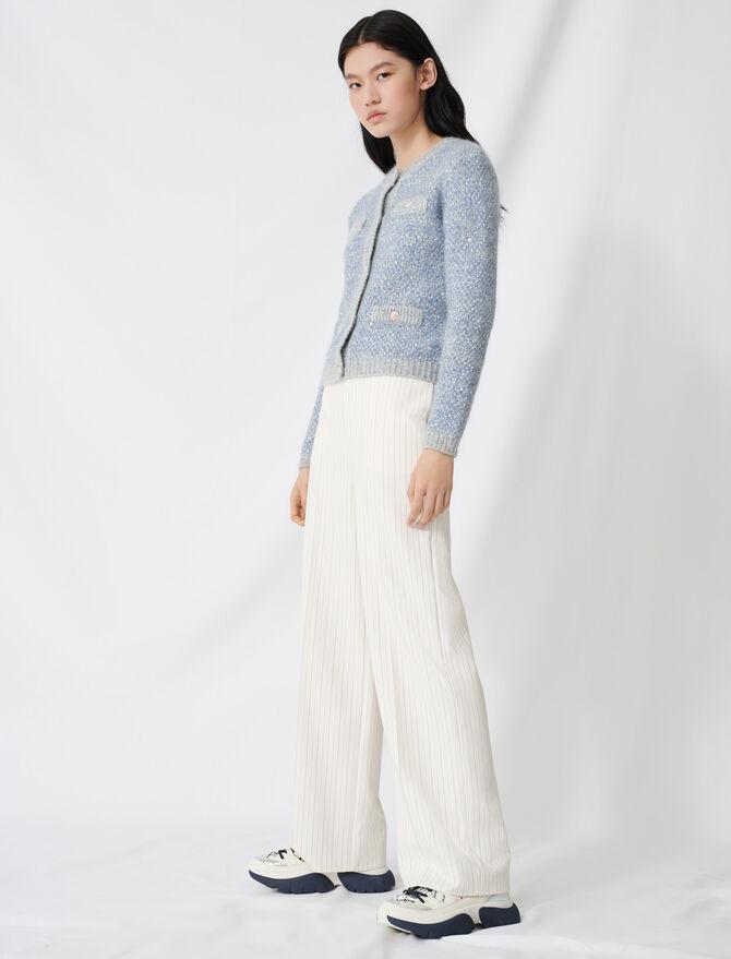 Pantaloni palazzo cintura a contrasto - Pantaloni e Jeans - MAJE