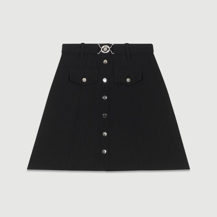 Jeans skinny in cotone Stretch : Gonne e shorts colore Nero