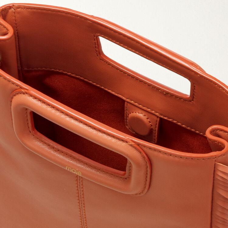 Borsa M con frange in pelle : Borse M colore Terracotta