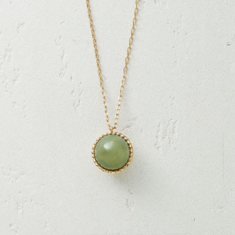 Collana con sfera in pietra naturale : Gioelli colore Verde Acqua