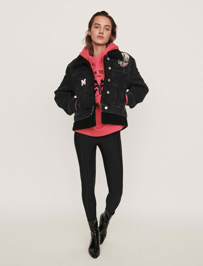 Giubbotto di jeans con patch ricamati - Coats & Jackets - MAJE