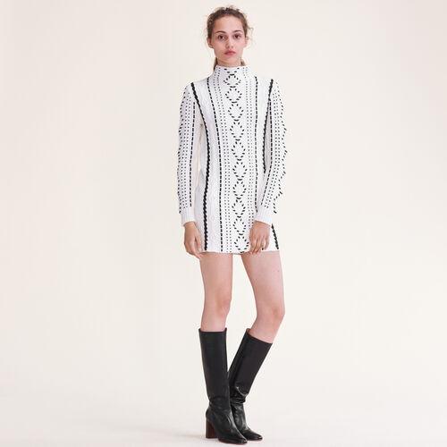 Abito in maglia a trecce : Vestiti colore Ecru