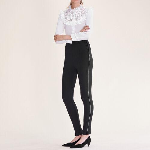 Leggings con multi-zip. : Pantaloni & jeans colore Nero