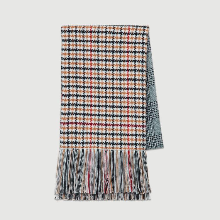 Sciarpa con mix di quadri in maglia : Scialli & Poncho colore Multicolore