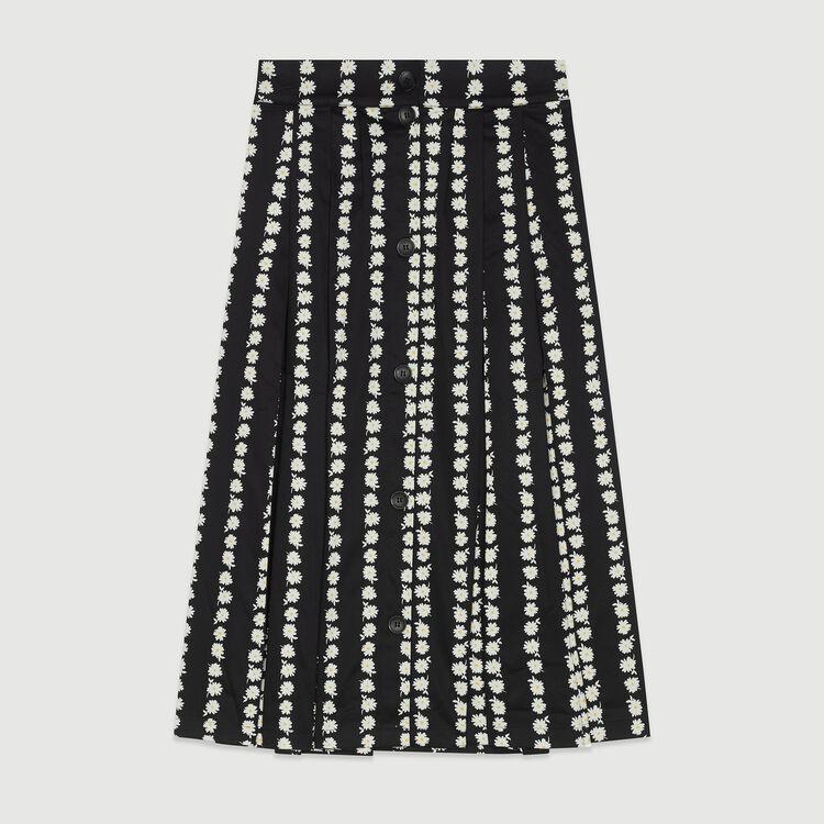 Gonna lunga con margherite stampate : Gonne e shorts colore IMPRIME