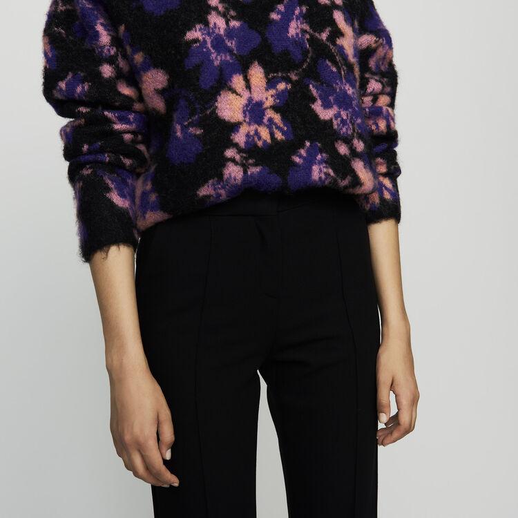 Pantalone tailleur dritto : Pantaloni colore Nero