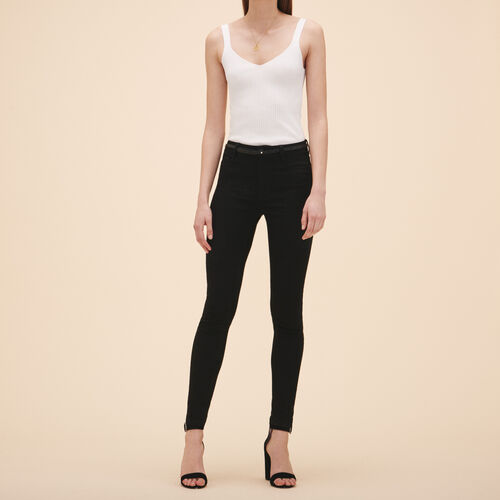 Jeans slim in cotone : Jeans colore Nero