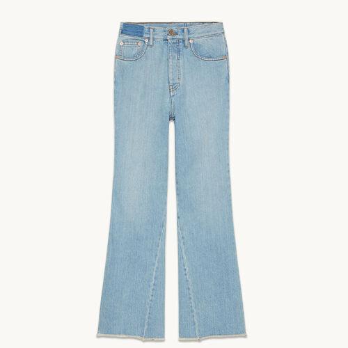 Jeans in cotone svasati - null - MAJE