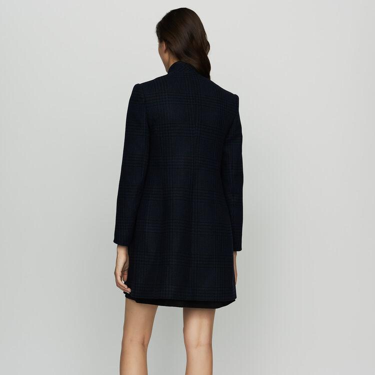 Cappotto dritto pied-de-poule : Cappotti colore Blu Marino