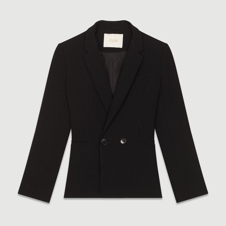 Giacca corta stile tailleur : Giacche colore Nero