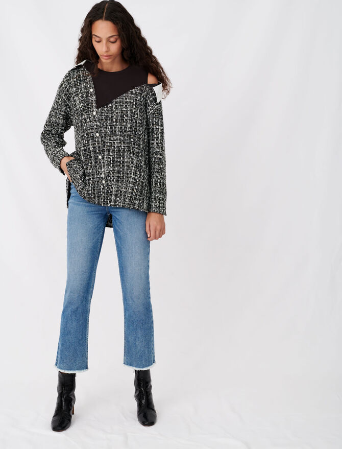 Top trompe-l'œil stile tweed - Tops e Camicie - MAJE
