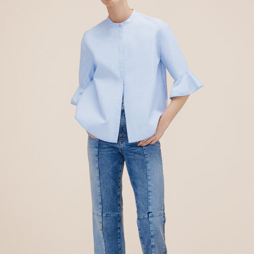 Camicia a righe in popeline - Camicie - MAJE