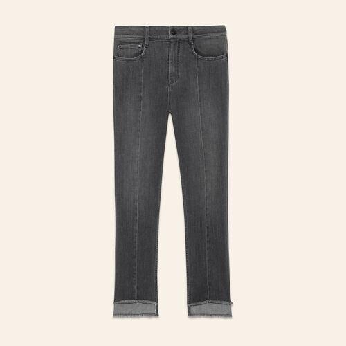 Jeans lunghezza asimmetrica : Pantaloni & jeans colore Grigio