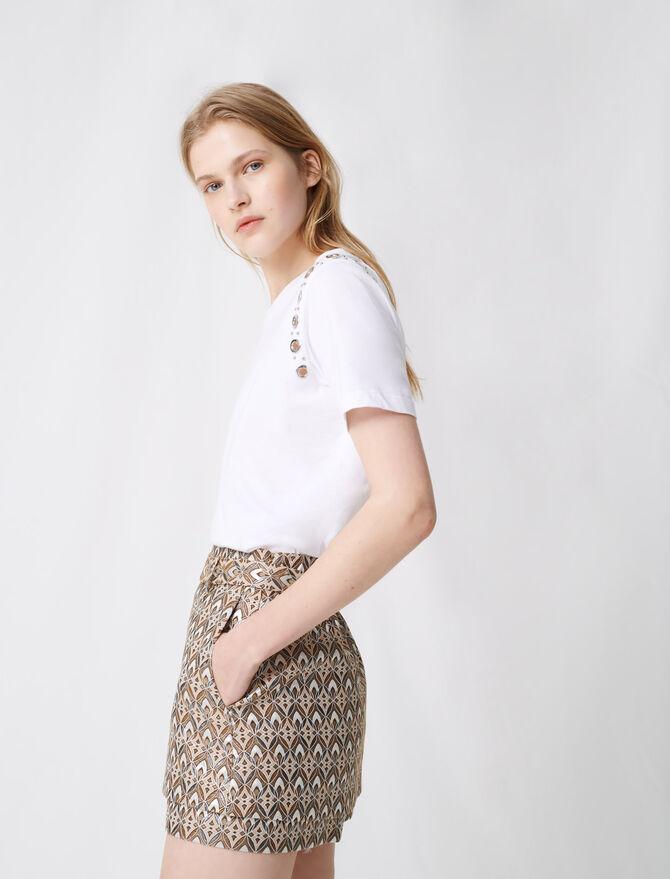 Short in jacquard con cintura amovibile - Gonne e shorts - MAJE