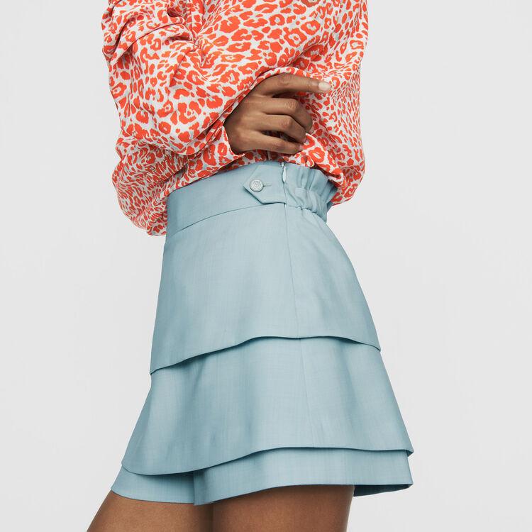 Pantaloncini trompe-l'œil : Gonne e shorts colore Ceruleo