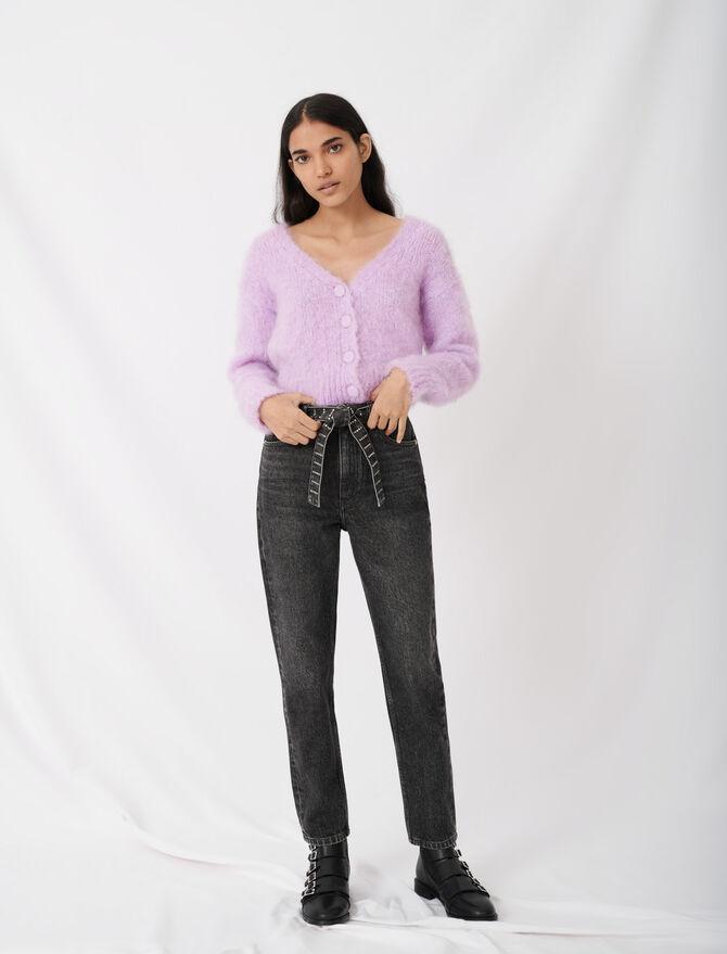 Jeans stile Mum con cintura in strass - Pantaloni e Jeans - MAJE