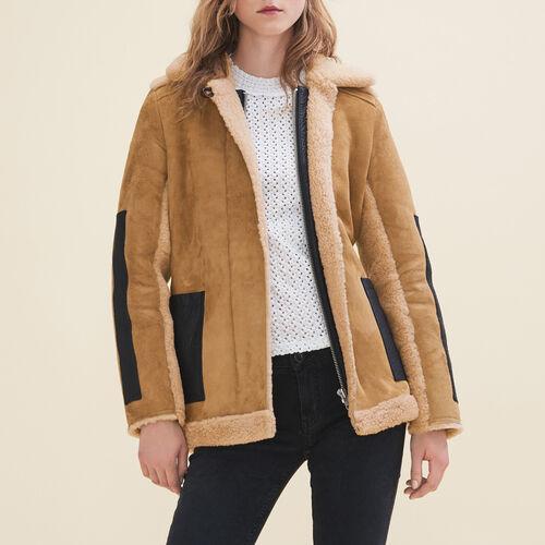 Cappotto in shearling : Cappotti colore Caramello
