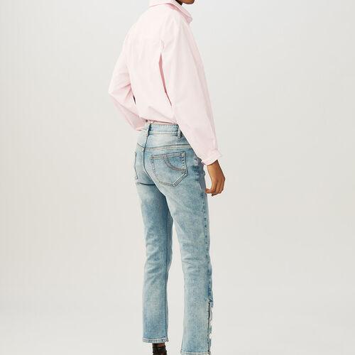 Gonna tagliata a  godets in denim : Pantaloni & jeans colore Denim