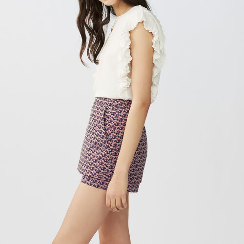 Jacquard cropped skirt : Gonne e shorts colore Jacquard