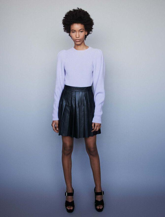Wool sweater with balloon sleeves - Midseason-Sales_DE_30% - MAJE