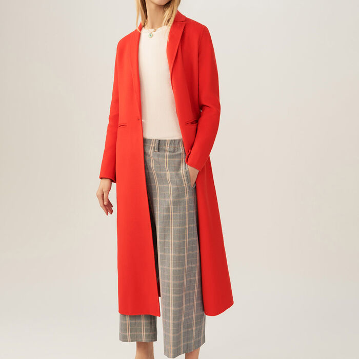 Cappotto lungo double face : Cappotti colore Arancio