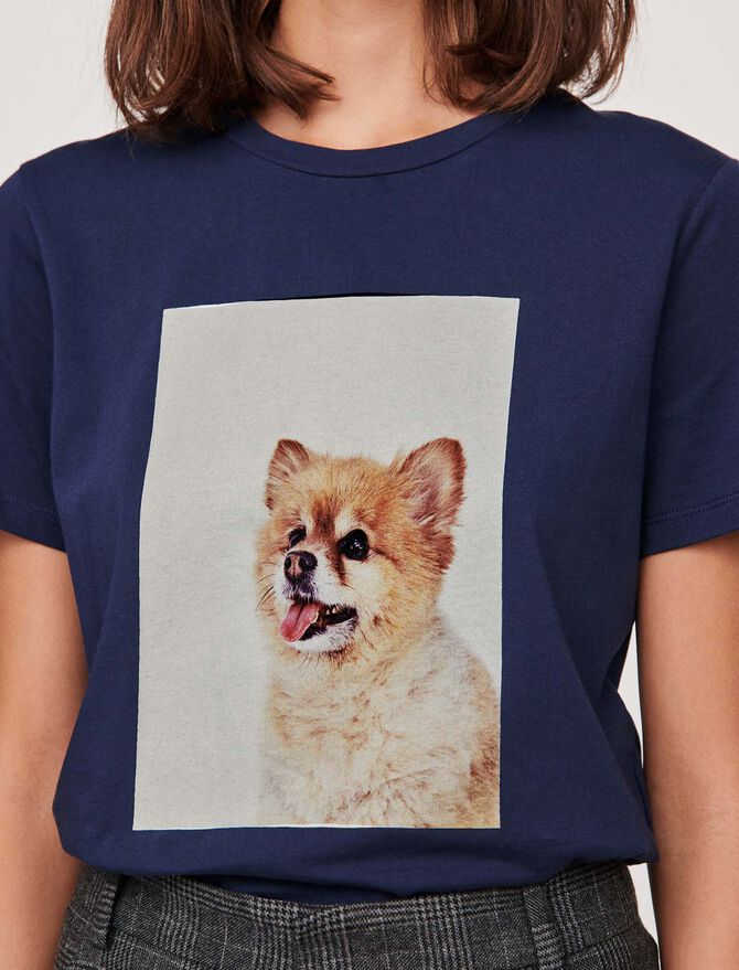 """Tee-shirt con stampa """"cane"""" - SoldesFR_Tops_chemises - MAJE"""