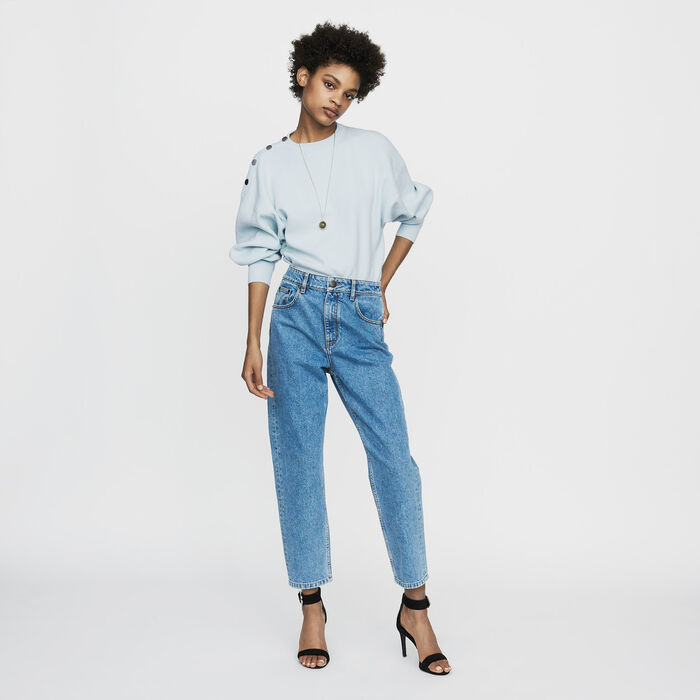 Jeans largo in denim delavè : Pantaloni e Jeans colore Denim