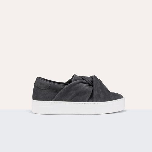 sneaker in pelle scamosciata con nodo - Scarpe - MAJE