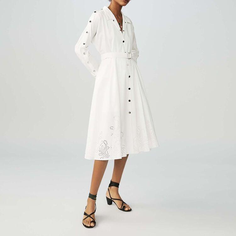 Abito lungo con cintura : Vestiti colore Bianco