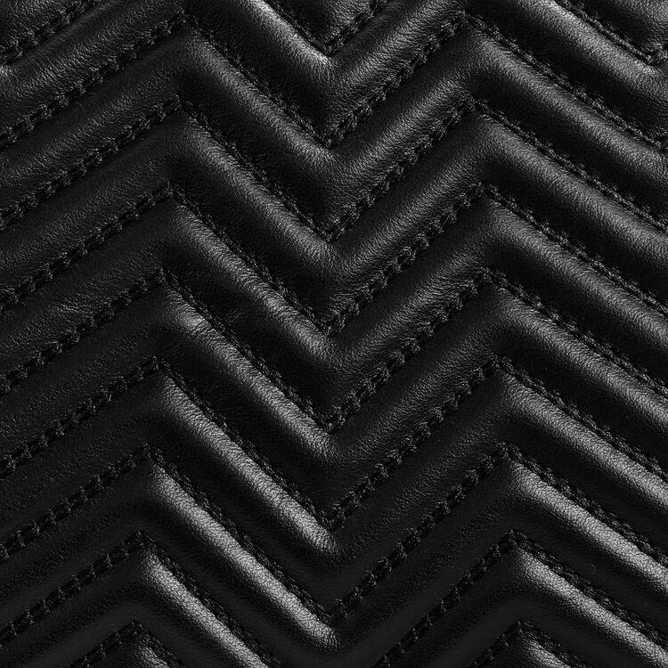 Borsa a tracolla in pelle matelassé : Collezione colore Nero