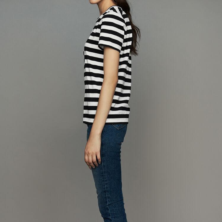 Tee-shirt in cotone a righe : Prêt-à-porter colore A Righe