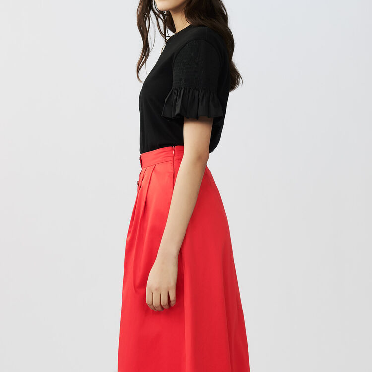 T-shirt with sleeves : Tops colore Nero