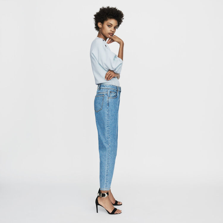 Jeans larghi in denim delavè : Jeans colore Denim