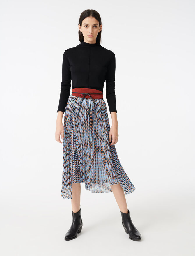Gonna in jacquard e lurex stampato - Gonne e shorts - MAJE