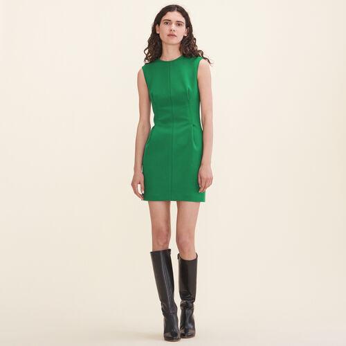 Abito senza maniche in crêpe : Vestiti colore Verde