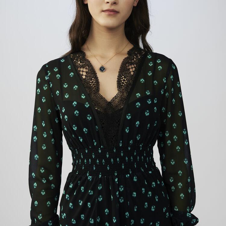 Vestito lungo assimmetrico stampato : Vestiti colore IMPRIME