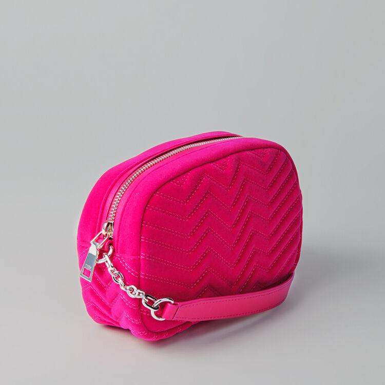 Quilted velvet shoulder bag : Sami bag colore Rosa