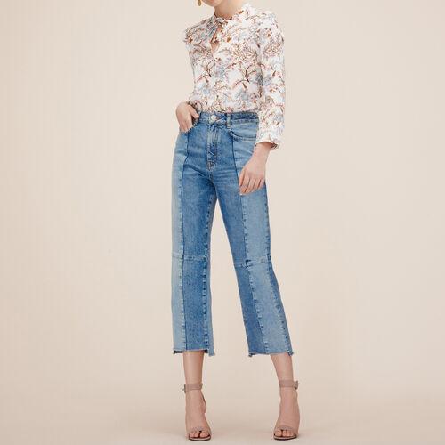 Jeans straight in denim délavé : Pantaloni & jeans colore Blu