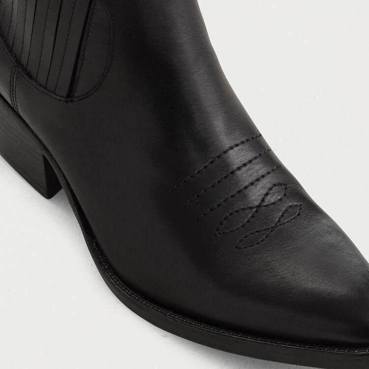 Stivaletti in suede taglio western : Stivali e Stivaletti colore Nero
