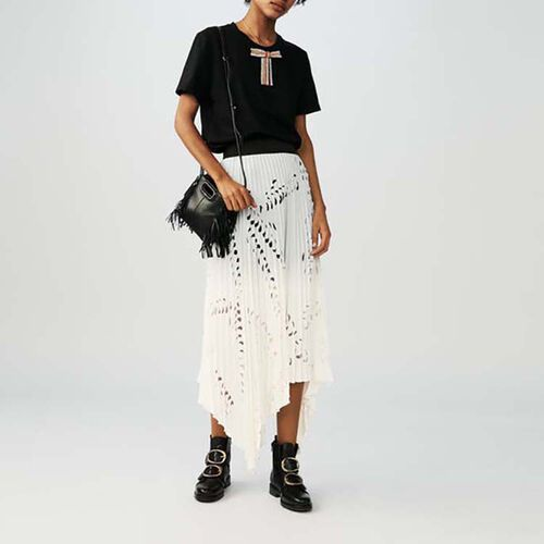 Long pleated skirt : Gonne e shorts colore Bianco