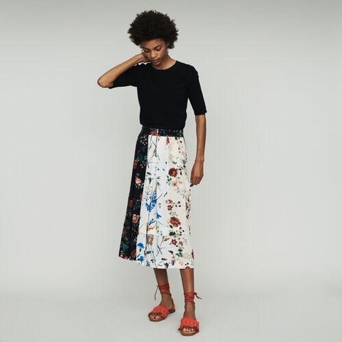 Gonna midi stampata : Gonne e shorts colore Stampato