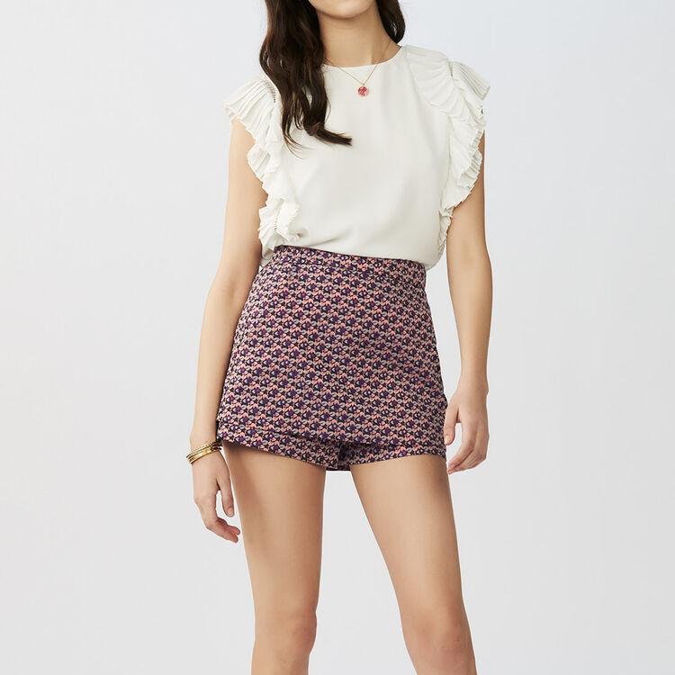 Vestito scamiciato asimmetrico : Gonne e shorts colore Jacquard