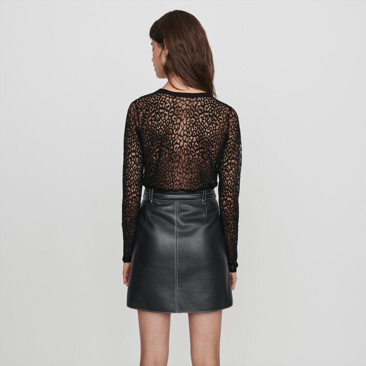 Tee-shirt stampata : Pullover e cardigan colore Nero