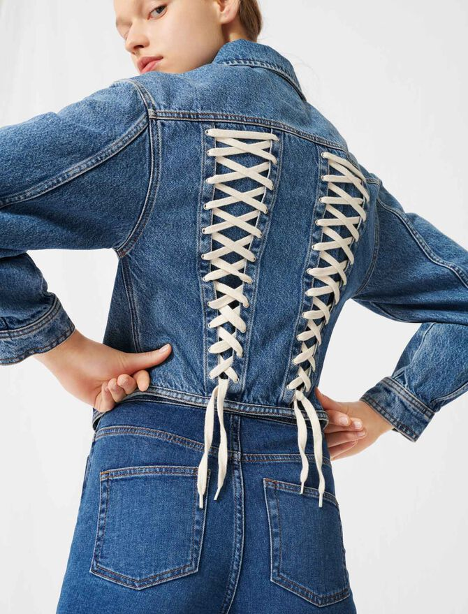 Giubbotto in jeans tipo corsetto - Cappotti e Giubbotti - MAJE