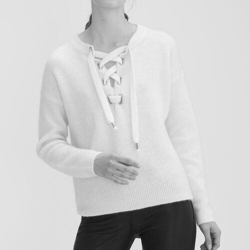 Pullover loose in mohair : Pullover e cardigan colore Ecru