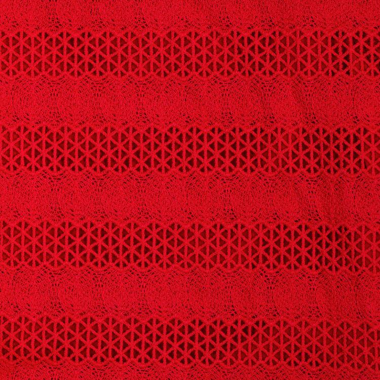 Top ricamato : Tops colore Rosso