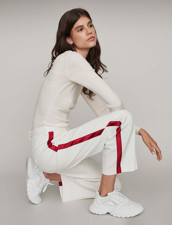 Pantaloni larghi con bande a contrasto - Midseason-Sales_IE_Bestsellers - MAJE